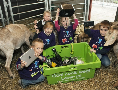 Kinderboerderijen gaan e-waste inzamelen