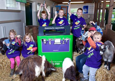 Wecycle verwelkomt 100e kinderboerderij als inleverpunt